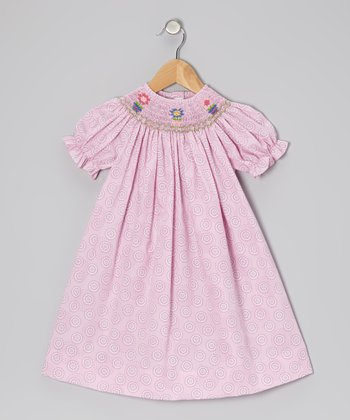 Pink Flowerpot Bishop Dress - Infant, Toddler & Girls