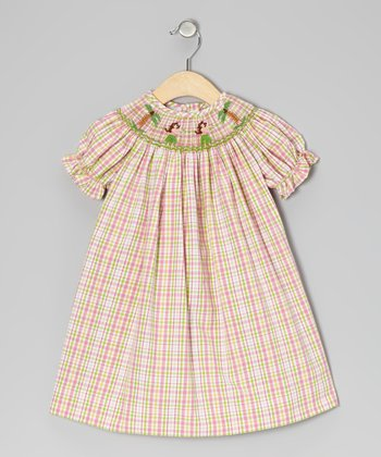 Pink & Green Plaid Hawaiian Bishop Dress - Infant & Toddler