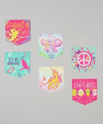 Peace & Love Patch Decal Set