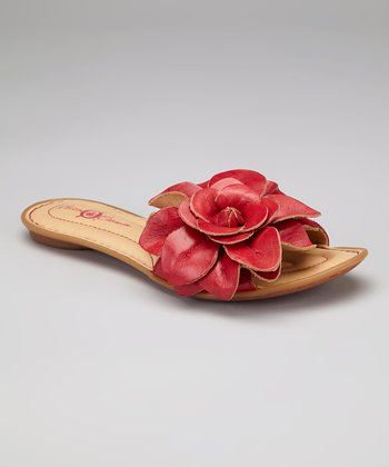 Cupido Flower Leather Albright Slide