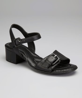Nero Leather Martine Sandal
