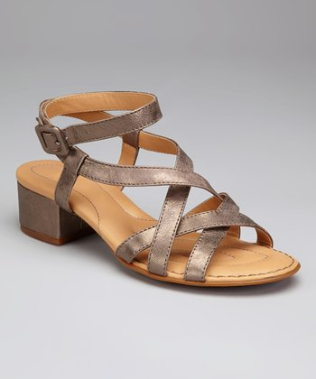 Tobacco Metallic Leather Paydin Sandal