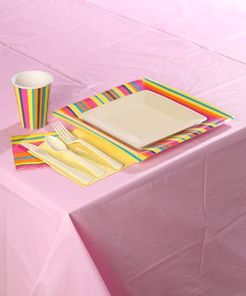 Pink Stripe Party Set