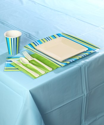 Blue Stripe Party Set