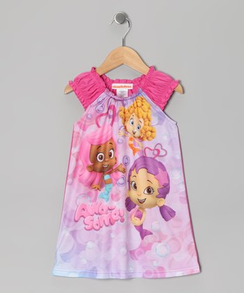 Purple & Pink Bubble Guppies Nightgown - Toddler & Girls