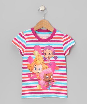 Red & Blue Stripe Bubble Guppies Tee - Toddler