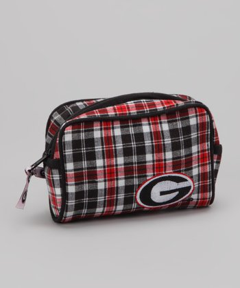 Black & Red Plaid Georgia Small Cosmetic Bag
