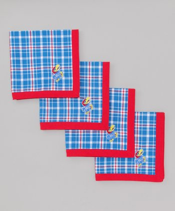 Red & Blue Plaid Kansas Napkin - Set of Four