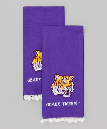 Purple LSU 'Geaux Tigers' Hand Towel - Set of Two