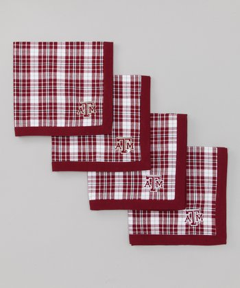 Black & Maroon Texas A&M Napkin - Set of Four