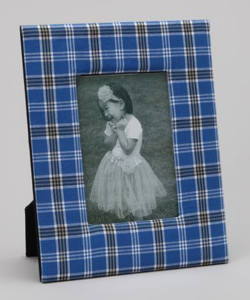 Blue & Black Plaid Kentucky Picture Frame