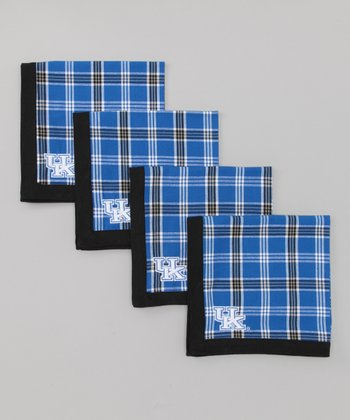Blue & Black Plaid Kentucky Napkin - Set of Four