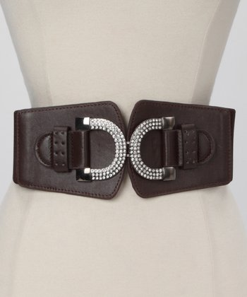 Brown Rhinestone Horseshoe Waist Belt