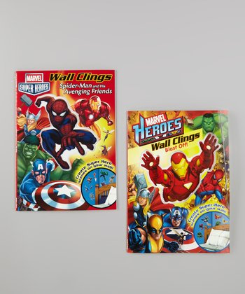 Blast Off! & Spider-Man Wall Clings Paperbacks