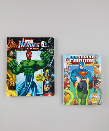 Marvel Heroes & DC Super Friends Mix & Match Board Books
