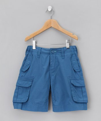 Dusty Blue Cargo Shorts - Boys