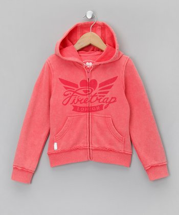 Grapefruit Zip-Up Hoodie - Girls
