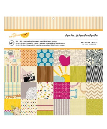Amy Tangerine Paper Set