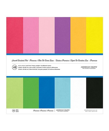 Primary Smooth Cardstock Set