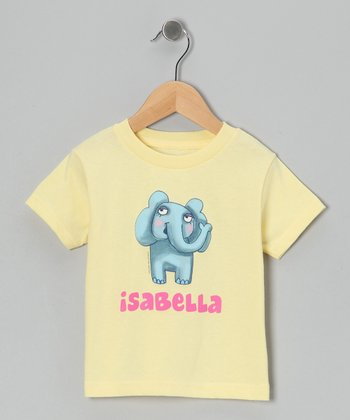 Banana Elephant Personalized Tee - Infant, Toddler & Girls
