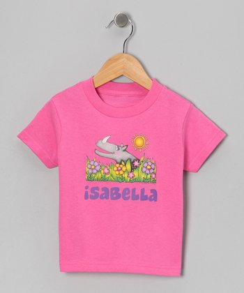 Raspberry Rhino Personalized Tee - Infant, Toddler & Girls