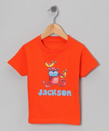 Orange Banana Monkey Personalized Tee - Infant, Toddler & Boys