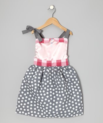 Gray Modern Princess Dress - Infant, Toddler & Girls