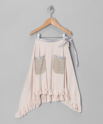 Almond Gypsy Fringe Hi-Low Skirt - Toddler & Girls