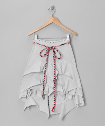 Silver Sand Sailing Hi-Low Skirt - Toddler & Girls