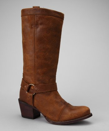Brown Philly Harness Boot - Women