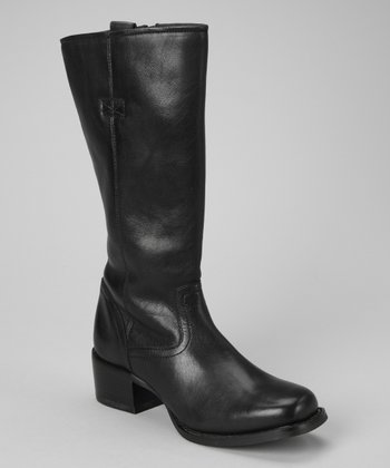Black Charlotte Zipper Boot - Women