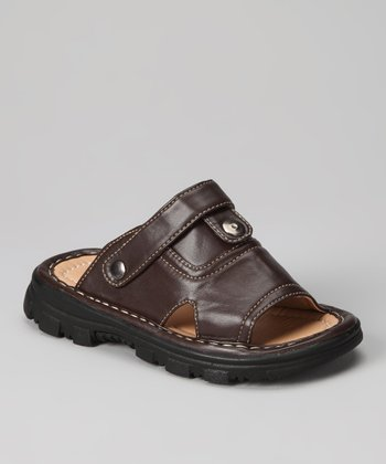 Brown Slip-On Sandal