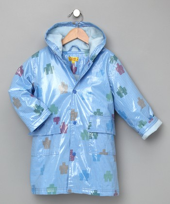 Blue Robot Fleece-Lined Raincoat - Infant, Toddler & Kids