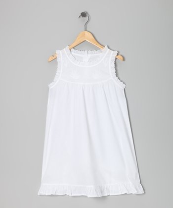 White Babydoll Dress - Girls