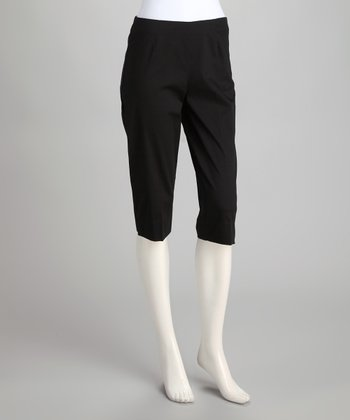 Black Stretch Capri Pants