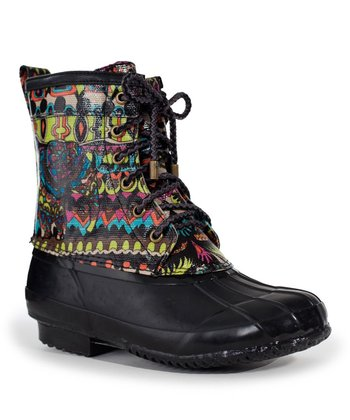 Neon & Black One World Duck Boot