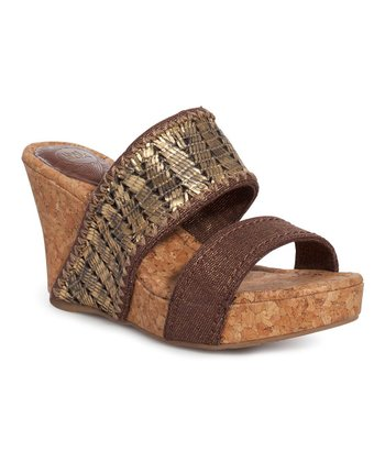 Metallic Gold Star Wedge