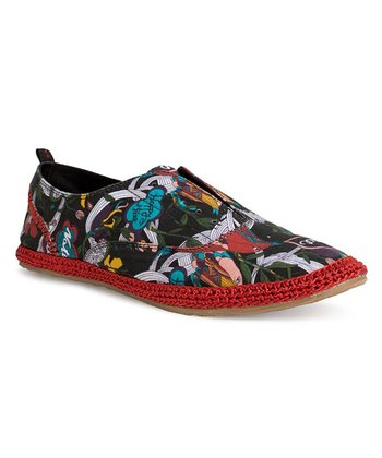 Black Peace Rhapsody Slip-On Shoe