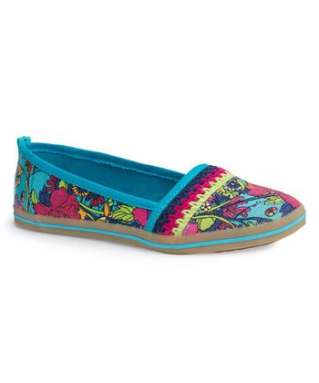 Aqua Flower Power Tempo Slip-On Shoe