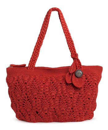 Cayenne Crocheted Shoulder Bag