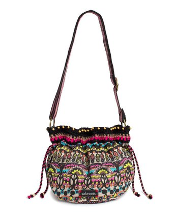 Neon One World Drawstring Satchel