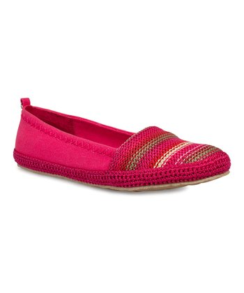 Pinkberry Stripe April Knit Slip-On Flat