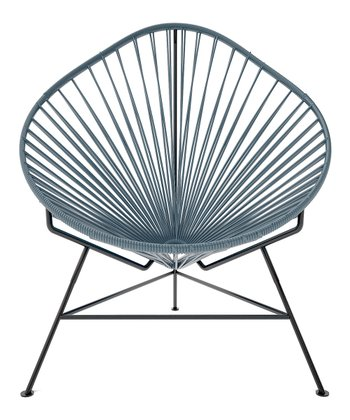 Gray & Black Acapulco Chair
