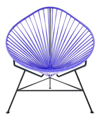 Purple & Black Acapulco Chair
