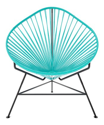 Turquoise & Black Acapulco Chair