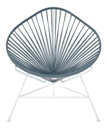 Gray & White Acapulco Chair