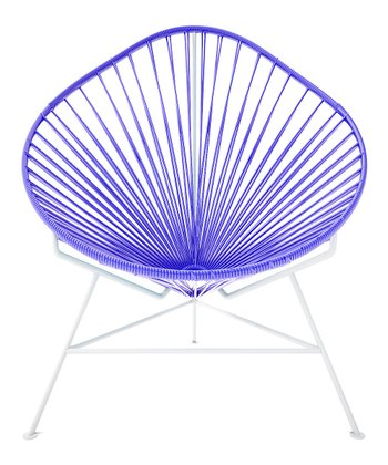 Purple & White Acapulco Chair