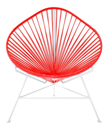 Red & White Acapulco Chair