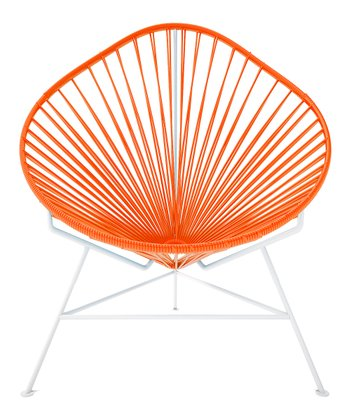 Orange & White Acapulco Chair