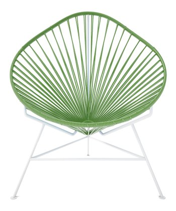 Olive & White Acapulco Chair
